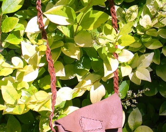 Rustic Leather pouch, small leather possibles bag, small leather bag, ready to ship