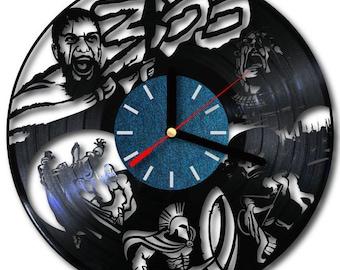 Vinyl wall clock 300 Spartans