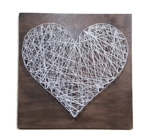 Heart wall art heart sign wood heart signs heart wall for Wooden heart wall decor