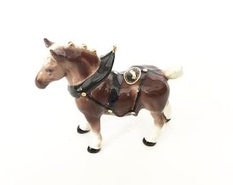 Hagen Renaker Percheron in Harness #341 Draft Horse Figurine