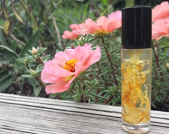 Natural Lemon Perfume Oil, Botanical Fragrance, Organic, Vegan, citrus perfume, crisp, tangy, fun, flirty, perfume, sweet, lemon perfume