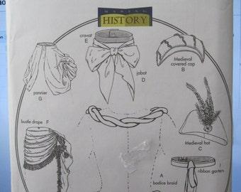PATTERN BUTTERICK B4157 accessories medieval Halloween