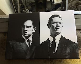 Tom Hardy Legend Canvas Print - Ronnie & Reggie Kray