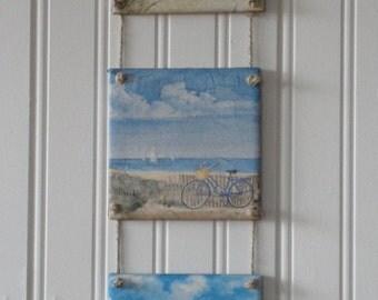 Delightful Tile Art, tile wall decor, wall decor, wall hanging, cottage, beach