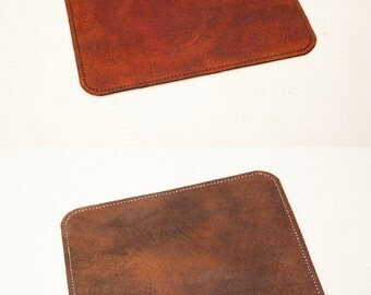 Leather Mouse Pad, Mouse Pad, Leather mousepad, Minimal Computer Mouse Mat, Handmade, Gift. Hand Cut from Vegetable Tanned Leather