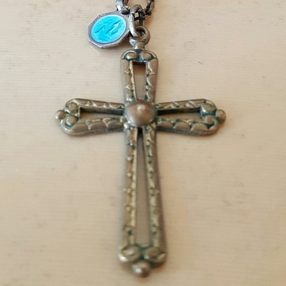Roman catholic cross necklace