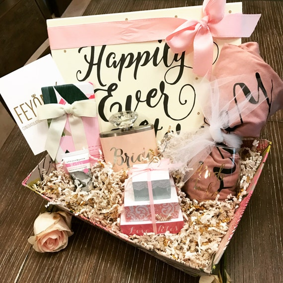 Wedding Night Basket Ideas: Bride To Be Engagement Gift Basket Bridal By
