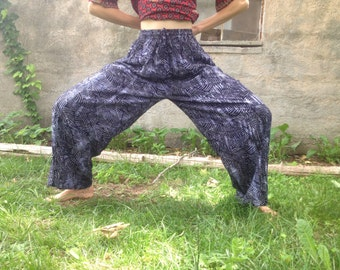 Global Village Indigo Batik Flow Pants