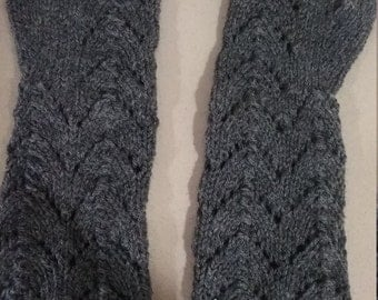 Elbow Length Lace Mittens