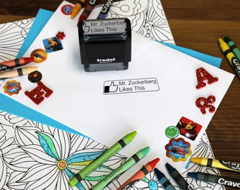 Facebook Stamp, Teacher stamps, Self Inking Stamp, Gifts for teachers, Teacher Appreciation Gifts, Facebook Like stamp  --SI-4911-FBLIKE