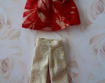 Cream Brocade Pants Set * Blythe * Pullip *