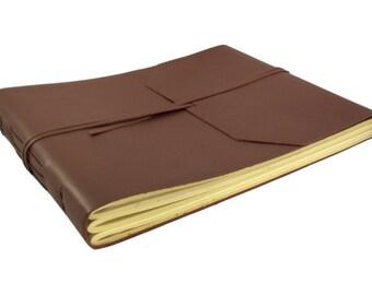 Leather Photo Album, Large Leather Scrapbook Album   200-400 Photo Album Book   Blank Scrapbook Album   Photo Album 4x6, Photo Album 5x7