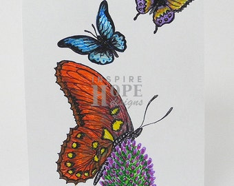Butterflies Sketch Note Card