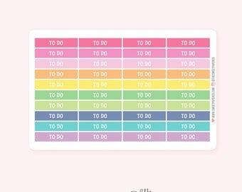 To Do Header Planner Stickers | PASTEL RAINBOW