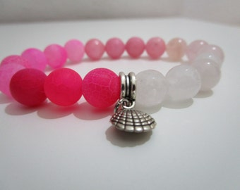 Pink stone bracelet, atural stone bracelet, Womens jewelry, Jewelry, Bracelet, Gift, Gift for women, Summer gift, Gemstone bracelet, Women