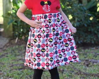 Minnie Mouse Disney inspired Monogramed T-shirt Dress