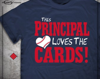 This PRINCIPAL Loves the CARDS T-shirt Hoody- Cardinals Tee - St. Louis  ID20