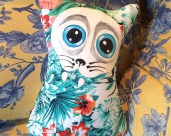 Little tropical Cat Pillow