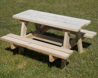 Children's picnic table, unfinished