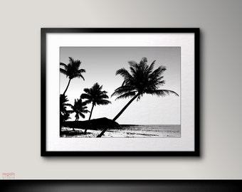 Palm tree printable, Beach decor, Palm print, Beach art, Palm tree art, Beach wall art, Palm tree photography, Beach prints,Palm tree poster