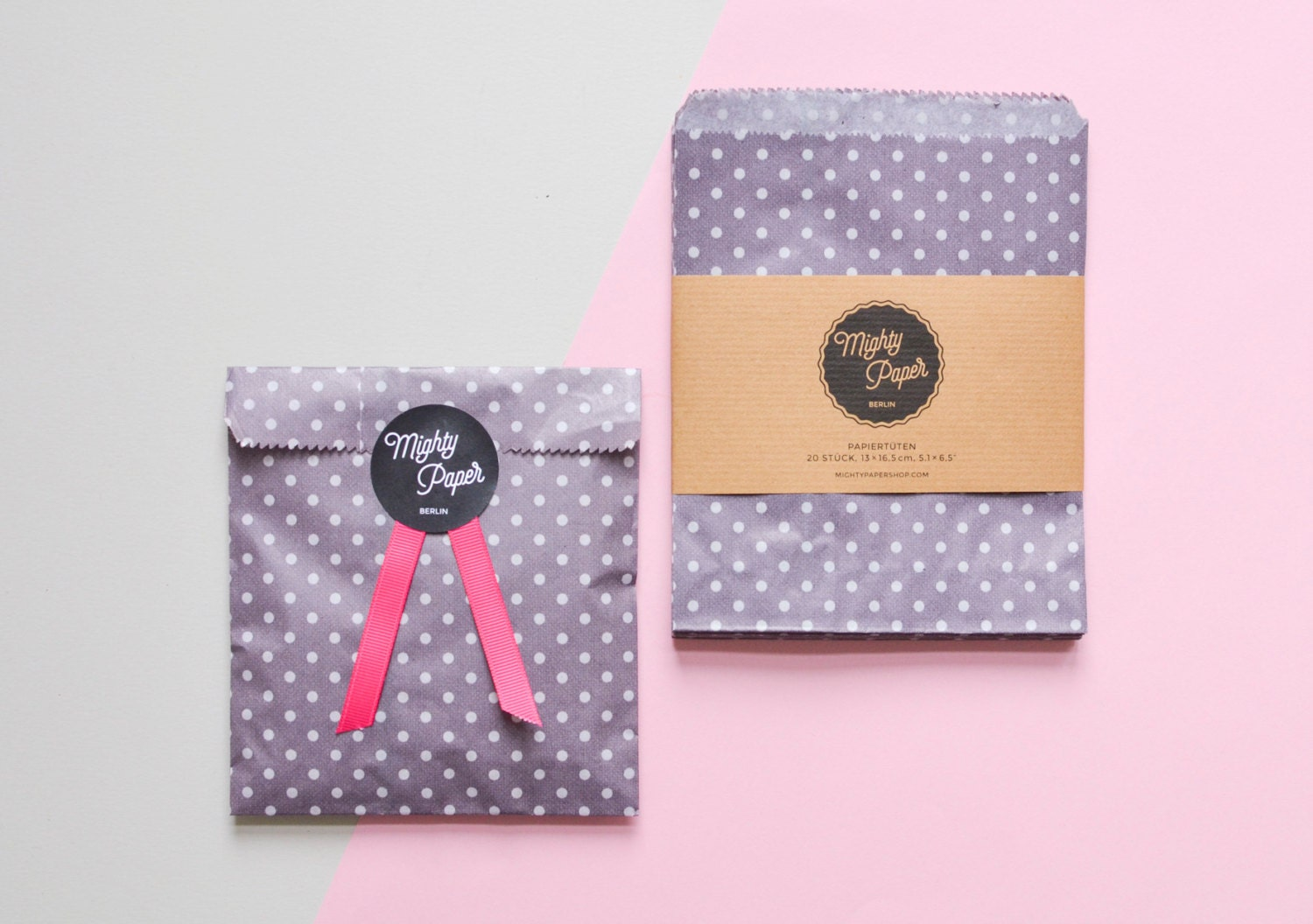 20 Polka Dots Paper Bags Favor Bags Wedding Favor Bags Candy