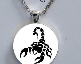 Horoscope Scorpion Constellation astrology glass pendant gift