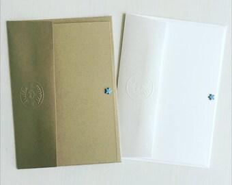 NOTE CARDS // Blue note cards // Blue note-lets // Blue postcards // Set of 5 notecards