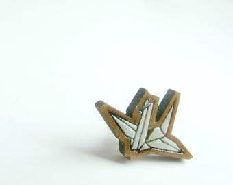 origami peace crane for your lapel // choose your colour