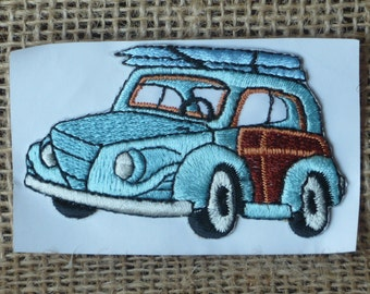 Woody Wagon Vehicle Embroidered Patch Applique
