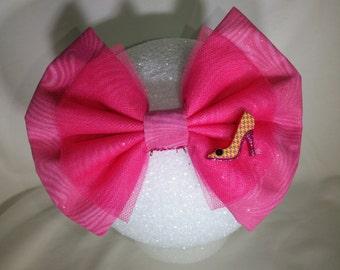 Pink High Heel Hair Bow