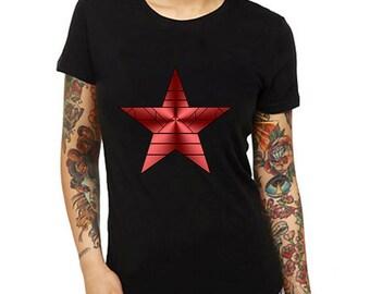 Winter Soldier Womens Shirt,Womens Shirts,Womens Tshirts,Womens Clothings,Girl Shirts,Gift For Her,Gif For Wife,Custom Women's Shirt,Tshirt