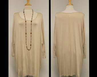 Over Sized New Mega Sleeve Soft, Stylish and Comfortable Long Top off shoulder Tunic.