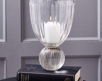 Maison Crystal Ripple Hand Cut Vase/Candleholder
