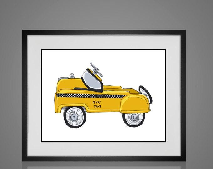 Framed Wall Art - VINTAGE NURSERY PRINT - Art For Children - Available In 4 Sizes - Choose Black or Antique White Frames -