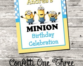Minions Decipicable Me Welcome Sign Birthday Party Digital Printable
