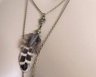 "Necklace ""Celtic"" Bronze feathers"