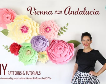Giant Paper Flower Backdrop - Patterns and Tutorials