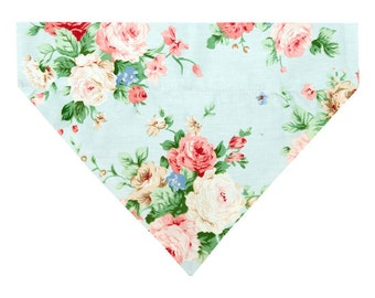 Dog Bandana in Sky Blue Floral