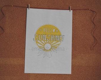 Hello sunshine A4 print