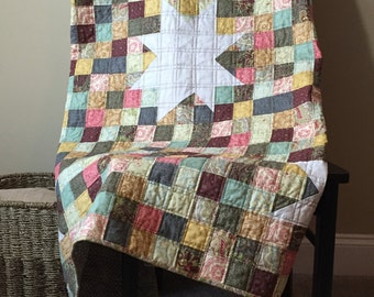 Lap Quilt with Wonky Stars