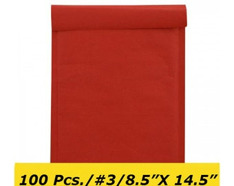 100 Red Bubble Envelopes 250x350mm Bubble Mailers Shipping Supplies Padded Envelopes Mailing Supplies Packaging Padded Mailers