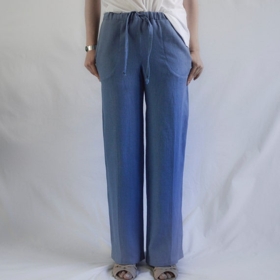 Wonderful Details About FashionCatch Women39s MidRise Drawstring Linen Pants