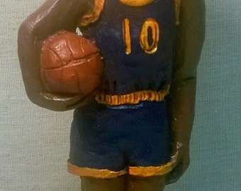 "Handpainted ""Basketball Player"" Figurine"