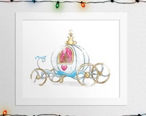 CINDERELLA CARRIAGE, Princess Carriage, Cinderella Carriage Print, Pumpkin Coach, Cinerella Pumpkin Coach, Disney Princess, Digital Print