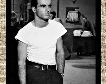 Montgomery Clift photograph, vintage photo print, classic old Hollywood photograph, black and white print, boho wall decor