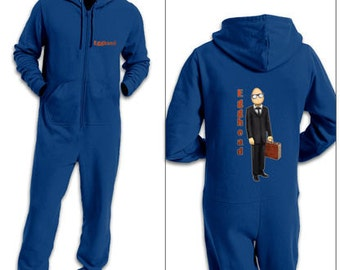 Suited Egghead adult onesie