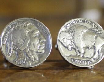 Buffalo Head Nickel coin Cufflinks