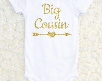 Big Cousin Shirt, Cousin Announcement, Big Cousin Tshirt, Baby Announcement, Baby Shower Gift, New Baby, Cousin Suprise, Carters Bodysuit