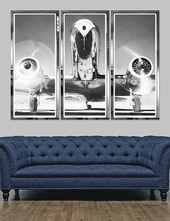 Airplane triptych vintage aircraft vintage airplane by monarchco - Vintage airplane triptych ...