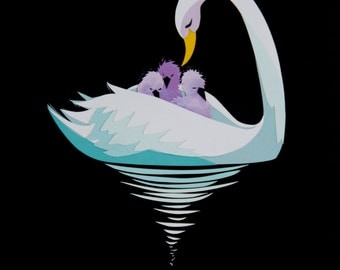 Limited Edition: Mother Swan Print